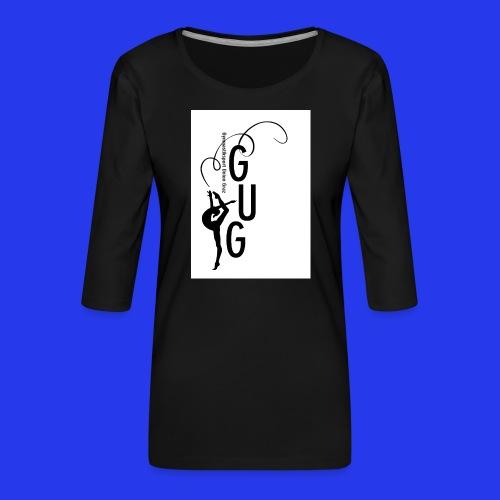 GUG logo - Frauen Premium 3/4-Arm Shirt
