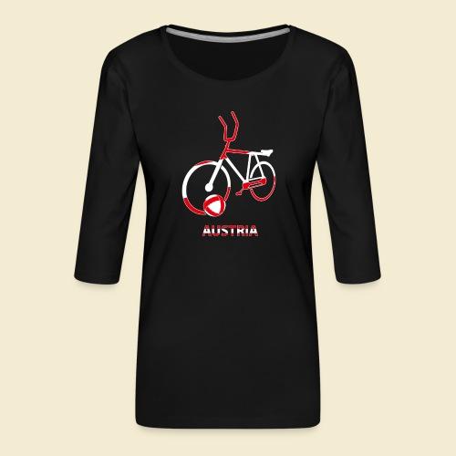 Radball | Austria Rad - Frauen Premium 3/4-Arm Shirt