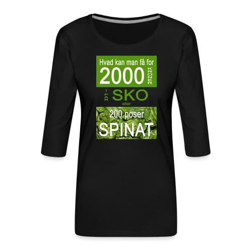 Hvad kan man få for 2000 kroner - Dame Premium shirt med 3/4-ærmer