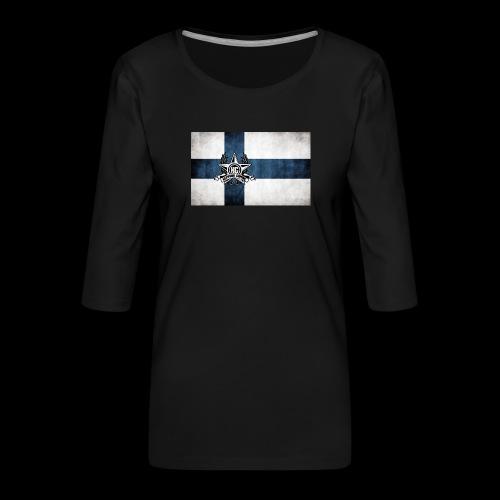 Suomen lippu - Naisten premium 3/4-hihainen paita