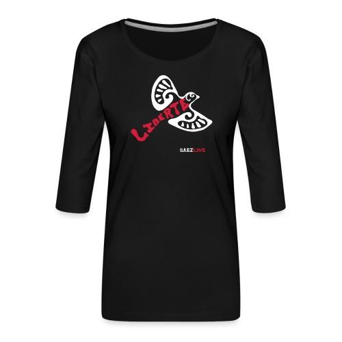 L'oiseau liberté (version light, par éoline) - T-shirt Premium manches 3/4 Femme