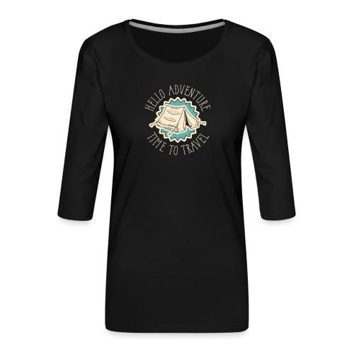 adventure font 5 - Maglietta da donna premium con manica a 3/4