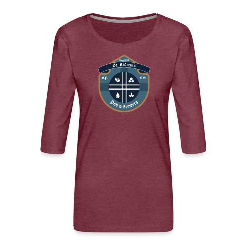 St Andrews T-Shirt - Maglietta da donna premium con manica a 3/4