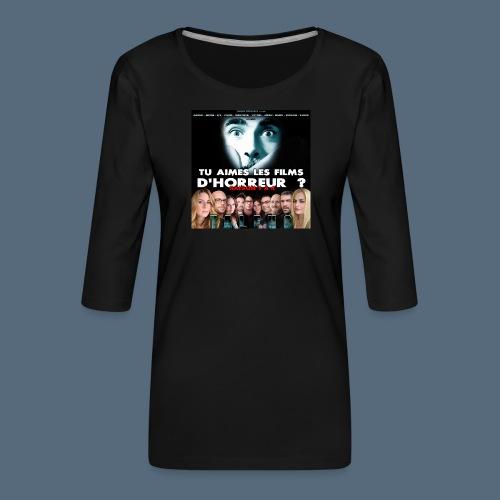 Talfho Logo Saison 4 - T-shirt Premium manches 3/4 Femme