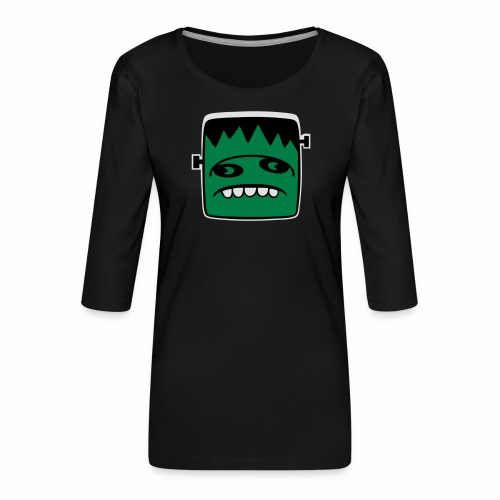 Fonster Weisser Rand ohne Text - Frauen Premium 3/4-Arm Shirt