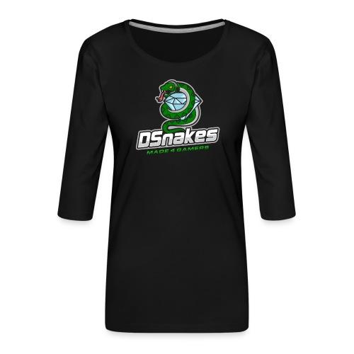Dsnakes Merch - Vrouwen premium shirt 3/4-mouw