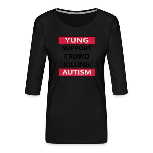 Crowdkill - Vrouwen premium shirt 3/4-mouw