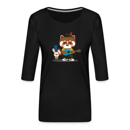 1 - T-shirt Premium manches 3/4 Femme