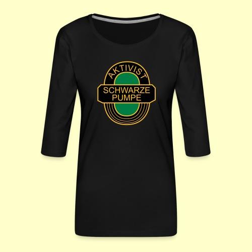 BSG Aktivist Schwarze Pumpe - Frauen Premium 3/4-Arm Shirt