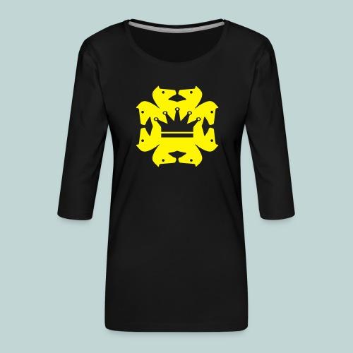 acht Springer - Frauen Premium 3/4-Arm Shirt