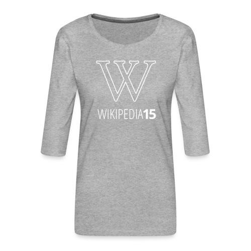 W, rak, svart - Premium-T-shirt med 3/4-ärm dam