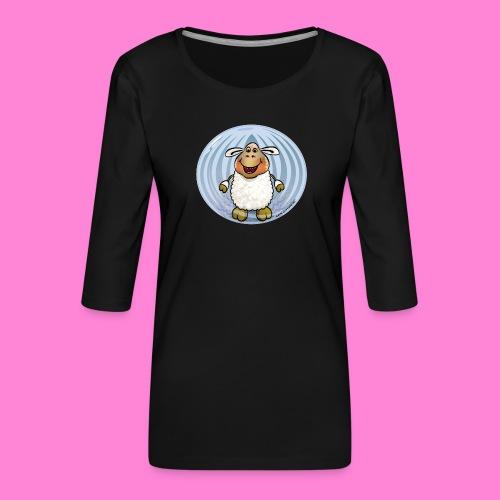 Halloween-sheep - Vrouwen premium shirt 3/4-mouw