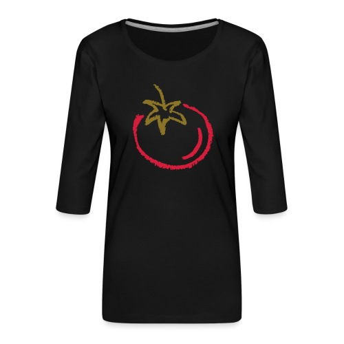 tomato 1000points - Women's Premium 3/4-Sleeve T-Shirt