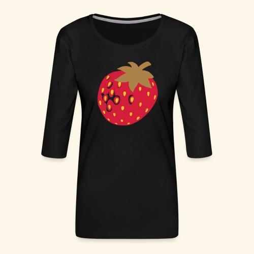 Erdbeere - Frauen Premium 3/4-Arm Shirt