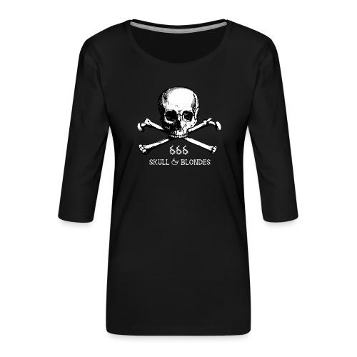 skull & blondes (white) - Frauen Premium 3/4-Arm Shirt