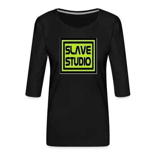 Slave Studio logo - Maglietta da donna premium con manica a 3/4