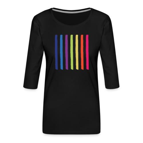 Lines - Women's Premium 3/4-Sleeve T-Shirt