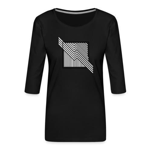 Lines in the dark - Women's Premium 3/4-Sleeve T-Shirt