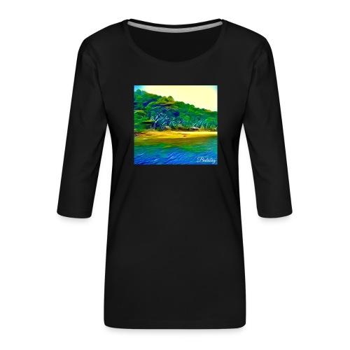 Tropical beach - Maglietta da donna premium con manica a 3/4