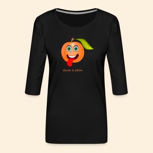 Whoua garde la pêche - T-shirt Premium manches 3/4 Femme