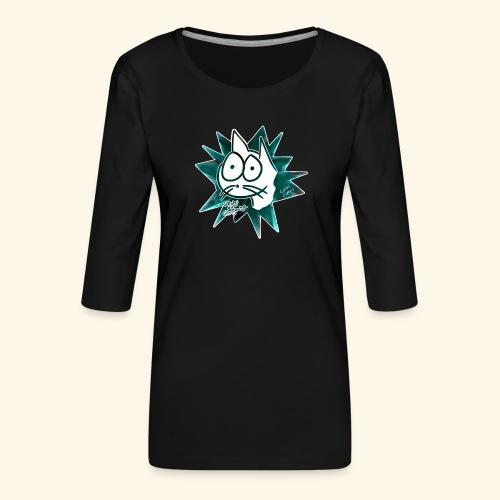 Glotzi Stern Cyan - Frauen Premium 3/4-Arm Shirt