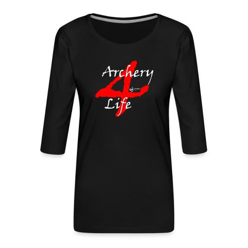 Archery4Life white - Frauen Premium 3/4-Arm Shirt
