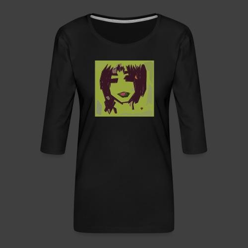 Green brown girl - Women's Premium 3/4-Sleeve T-Shirt