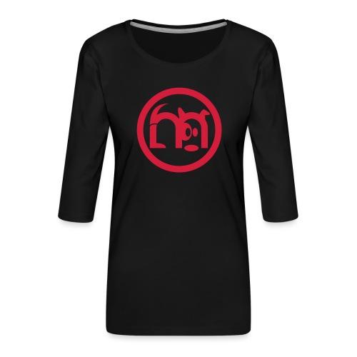 LOGO rond seul - T-shirt Premium manches 3/4 Femme