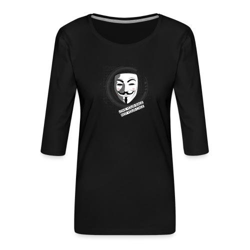 Anonymous Love Your Rage - Women's Premium 3/4-Sleeve T-Shirt
