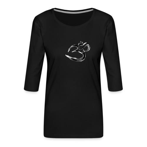 Black OM - Premium-T-shirt med 3/4-ärm dam