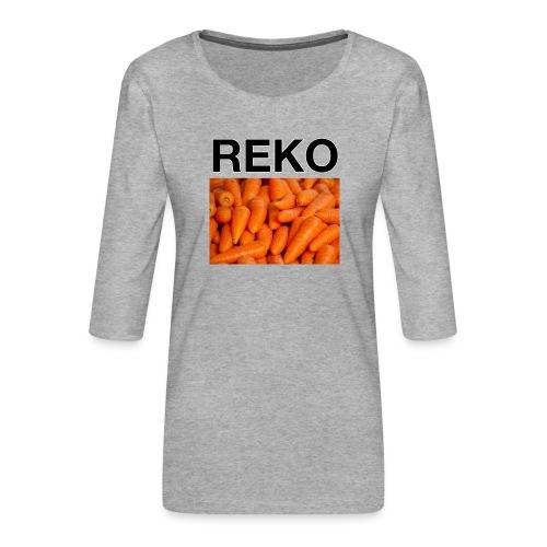 REKOpaita porkkanat - Naisten premium 3/4-hihainen paita