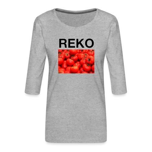 REKOpaita tomaatti - Naisten premium 3/4-hihainen paita
