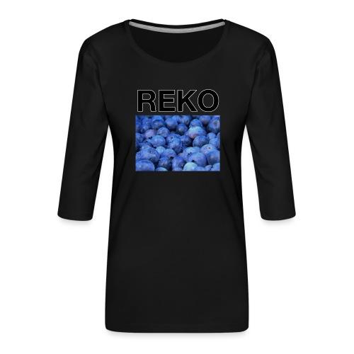 REKOpaita mustikka - Naisten premium 3/4-hihainen paita