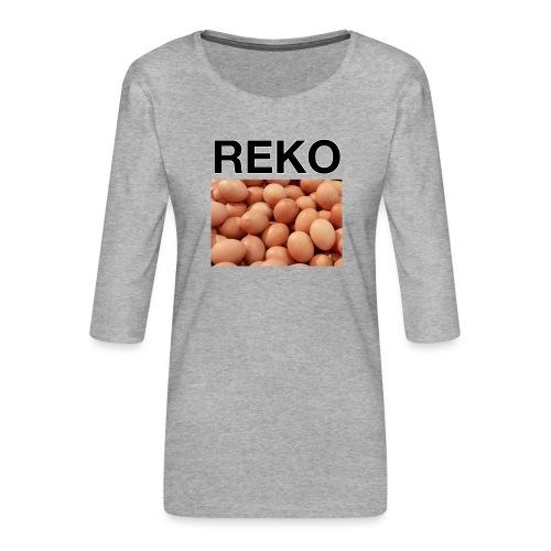 REKOpaita kananmunat - Naisten premium 3/4-hihainen paita