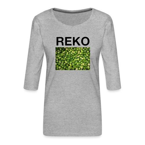 REKOpaita ruusukaali - Naisten premium 3/4-hihainen paita