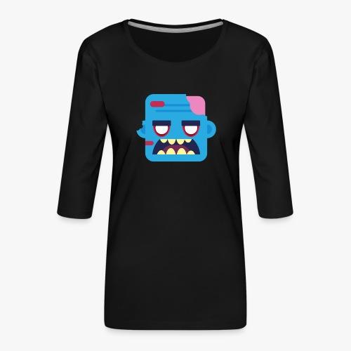 Mini Monsters - Zombob - Dame Premium shirt med 3/4-ærmer