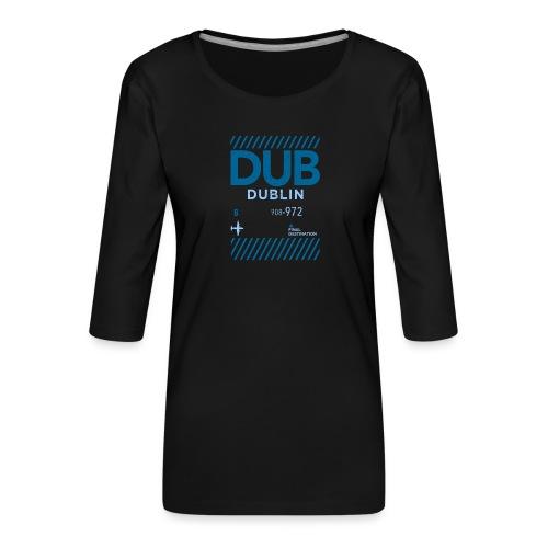 Dublin Ireland Travel - Women's Premium 3/4-Sleeve T-Shirt