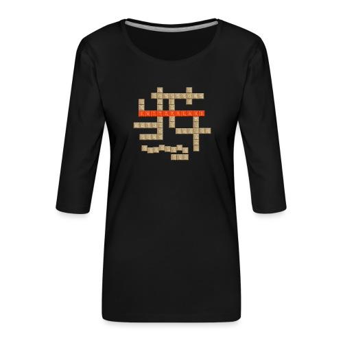 Scrabble - Switzerland - Frauen Premium 3/4-Arm Shirt
