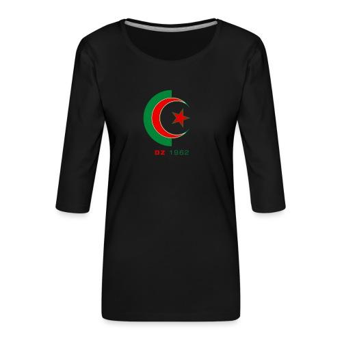 logo 3 sans fond dz1962 - T-shirt Premium manches 3/4 Femme