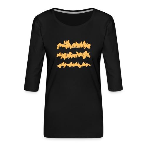 Orange_Sample.png - Frauen Premium 3/4-Arm Shirt