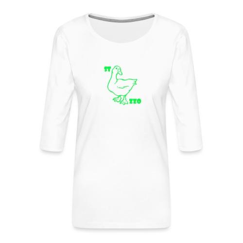 REBUS...STOCAZZO - Maglietta da donna premium con manica a 3/4
