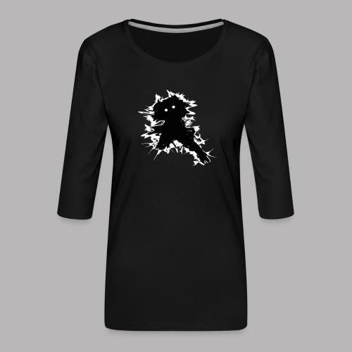 Charlie The Scratch Kid - Women's Premium 3/4-Sleeve T-Shirt