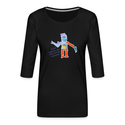 Alien Invasion - Frauen Premium 3/4-Arm Shirt