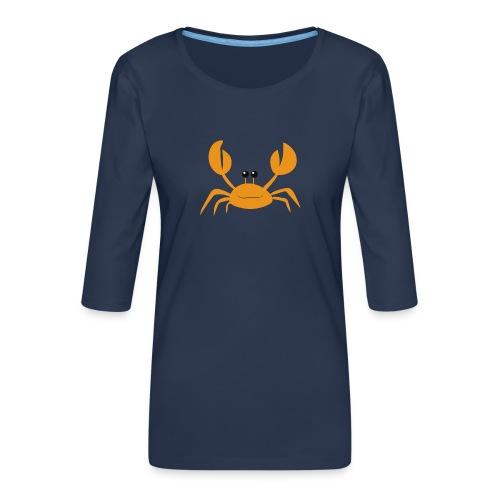 crab - Maglietta da donna premium con manica a 3/4