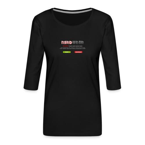 N3RD WEAR - Explicit - Frauen Premium 3/4-Arm Shirt