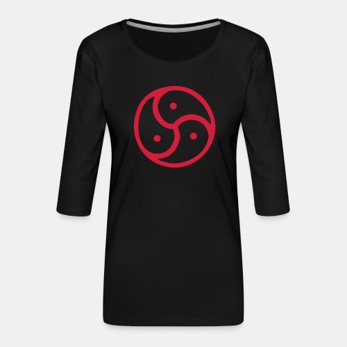 Triskelion / Triskele single-color - Frauen Premium 3/4-Arm Shirt