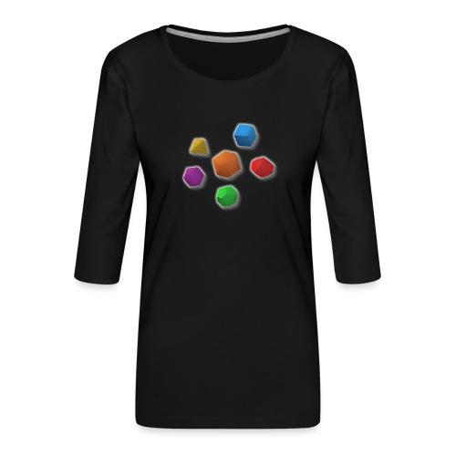 PolyDicePin - Women's Premium 3/4-Sleeve T-Shirt