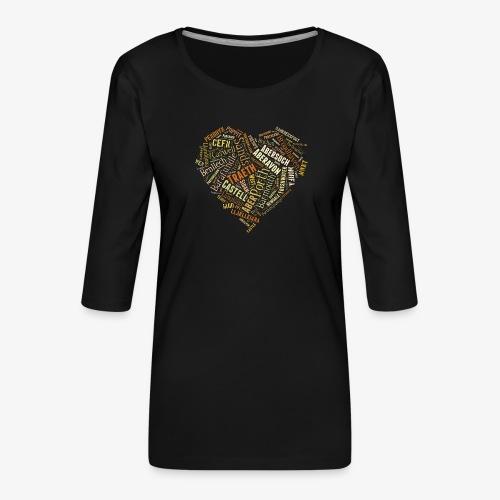 Welsh Beaches - Women's Premium 3/4-Sleeve T-Shirt