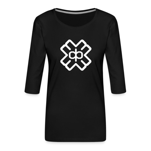 d3eplogowhite - Women's Premium 3/4-Sleeve T-Shirt