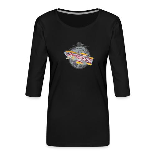 Space Fish Bluecontest - T-shirt Premium manches 3/4 Femme